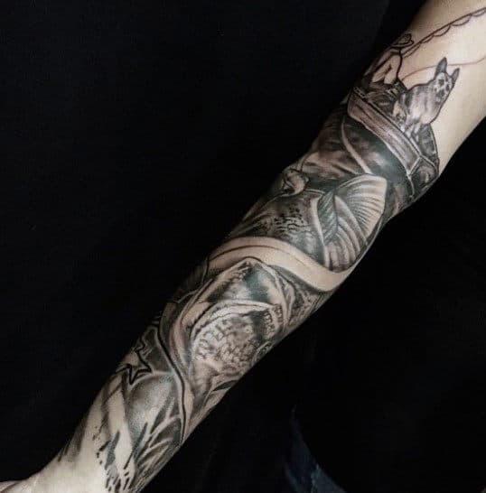 Fishing Boat Tattoo For Men