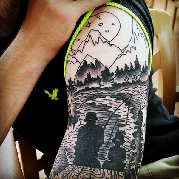 036bca11 Top 50 Best Father Son Tattoos For Men - Manly Design Ideas