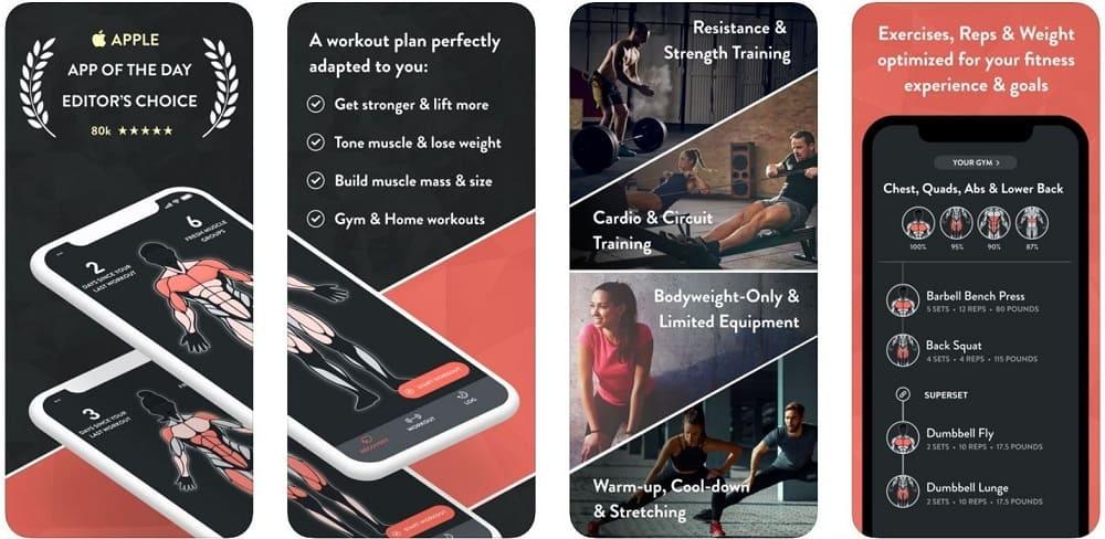 fitbod workout for men ios app screenshot