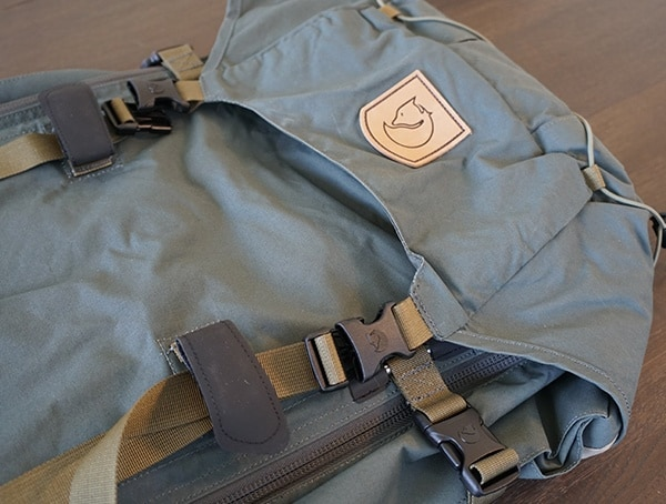 Fjallraven Kajka Backpack Lid Closed With Straps
