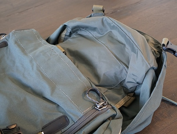 Fjallraven Kajka Backpack Lid Opened