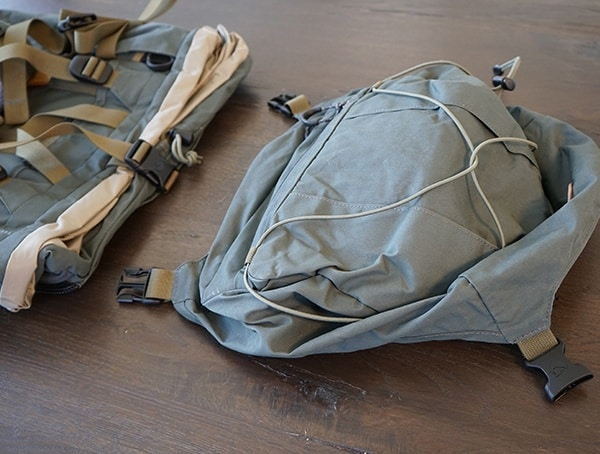 Fjallraven Kajka Backpack Lid Removed