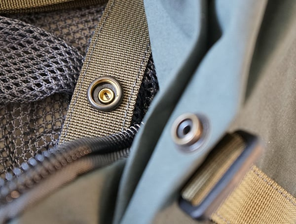 Fjallraven Kajka Backpack Snap Closures