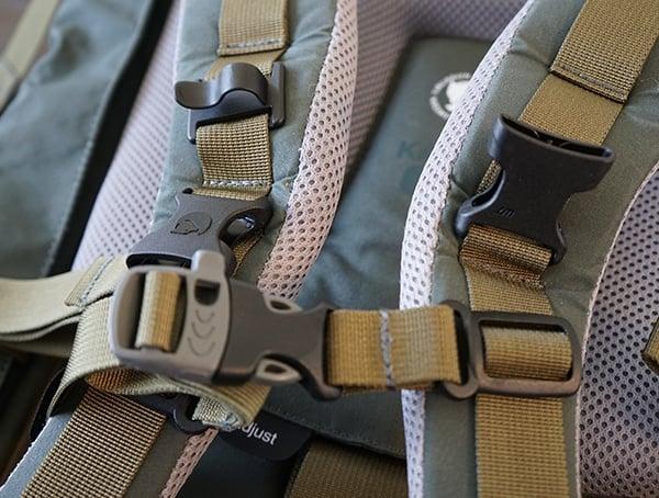 Fjallraven Kajka Backpack Sternum Strap With Built In Whistle