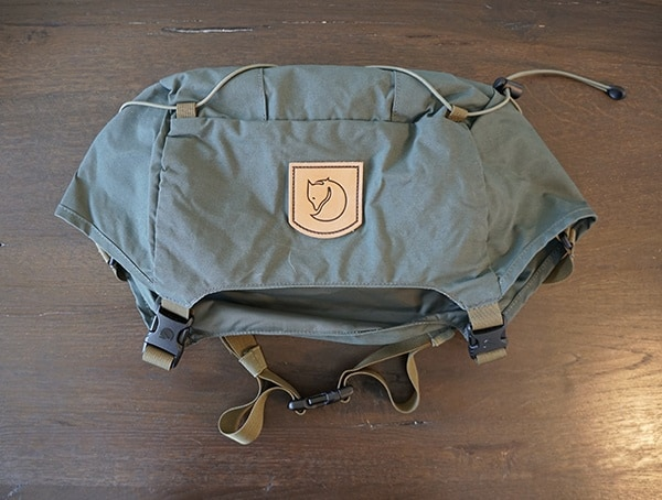 Fjallraven Kajka Backpack Top Lid Removed From Pack