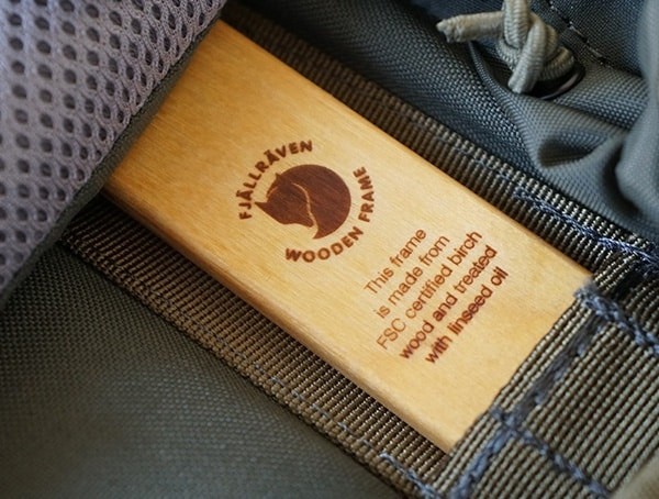 Fjallraven Kajka Backpack Wooden Frame