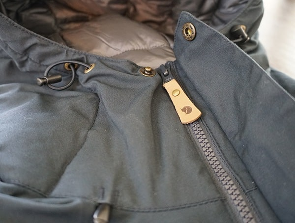 Fjallraven Skogso Padded Jacket Button Detail