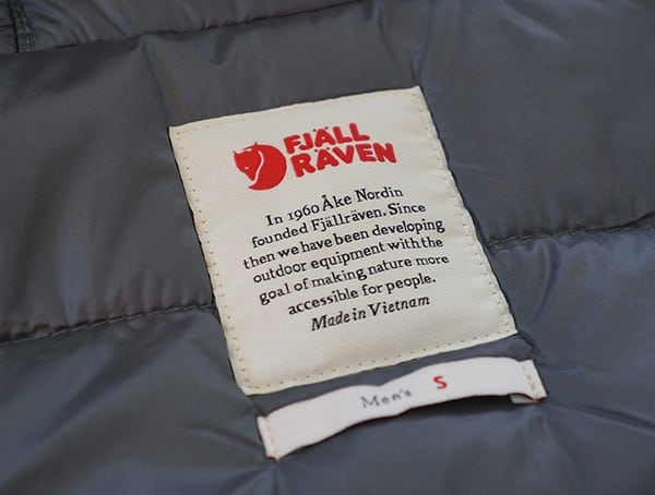 Fjallraven Skogso Padded Jacket For Men Inner Tag