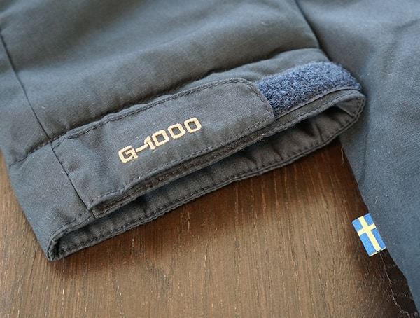 Fjallraven Skogso Padded Jacket G 1000 Detail With Velcro Wrist Closure