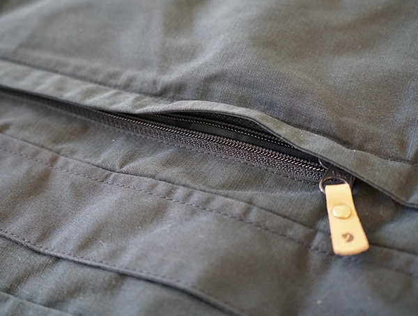 Fjallraven Skogso Padded Jacket Side Zip Pocket Closed