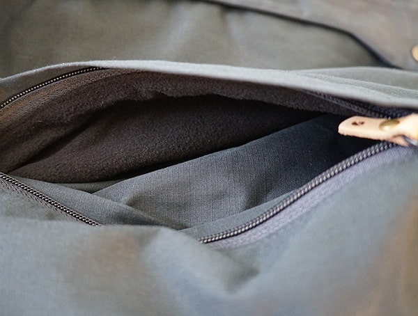 Fjallraven Skogso Winter Mens Jacket Pocket Open