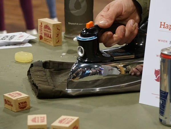Fjallraven Wax Demonstration At Outdoor Retailer
