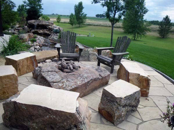 Flagstaff Rocks Fire Pit Landscaping Ideas