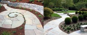 Top 40 Best Flagstone Walkway Ideas – Hardscape Path Designs