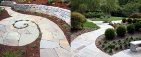 Top 40 Best Flagstone Walkway Ideas – Hardscape Path Designs