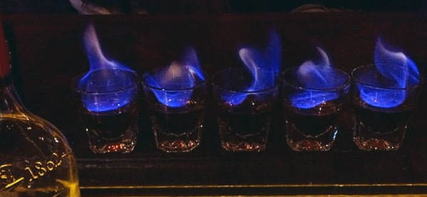Flaming Dr Pepper Bar Shots