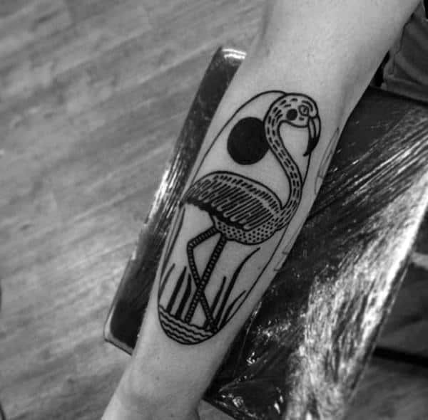 Flamingo Tattoo Designs For Men