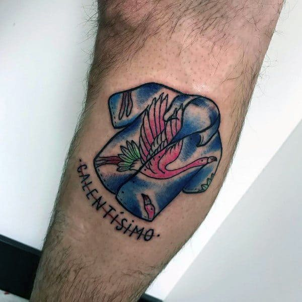 Flamingo Tattoo Ideas For Men