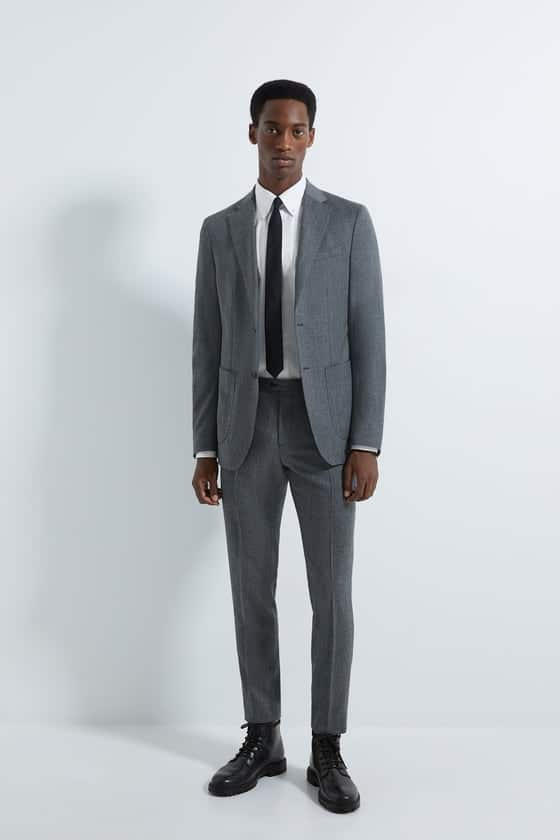 flannel suit pants Slim fit wool chino
