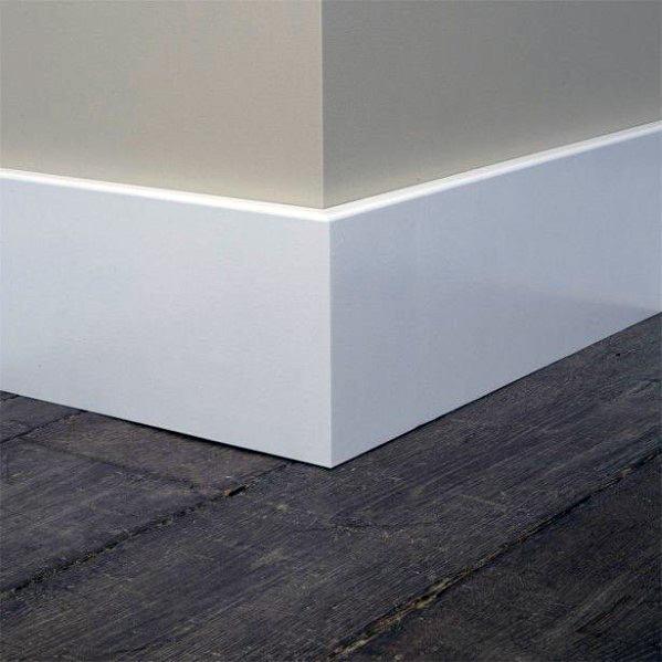 Flat Baseboard Modern Ideas With Dark Hardwood Floors