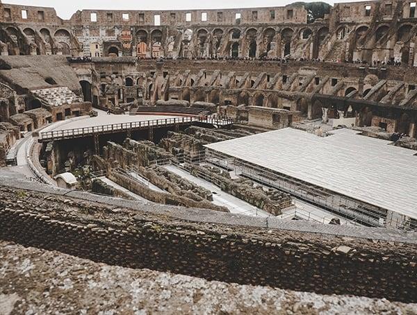 Flavian Amphitheatre Colosseum Interior