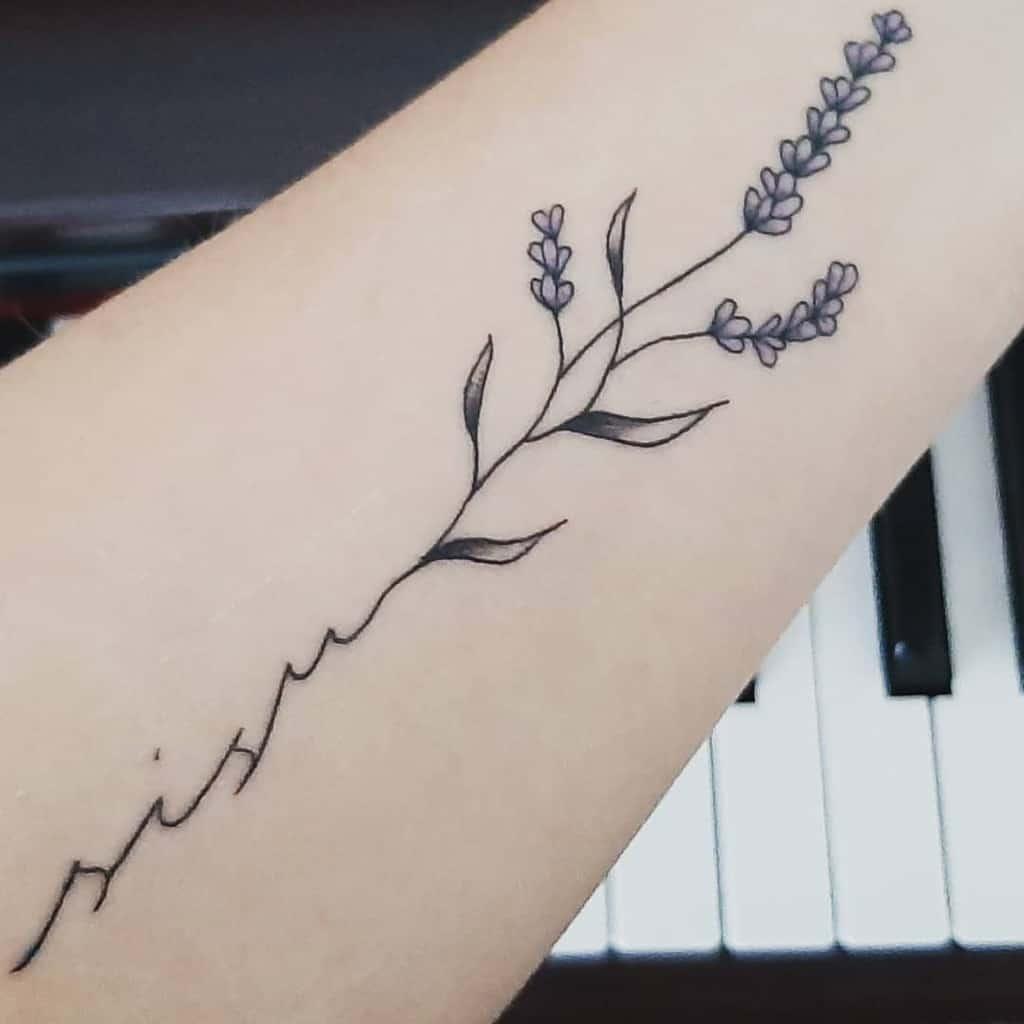 Flawed Lavander Tattoo