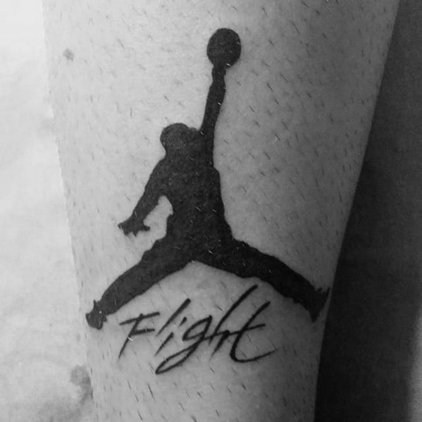 Flight Jordan Symbol Mens Arm Tattoos