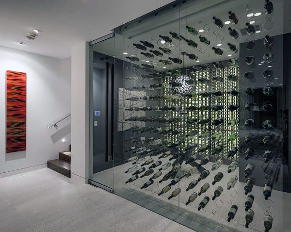 Floating Bottles Wine Cellar Ideas