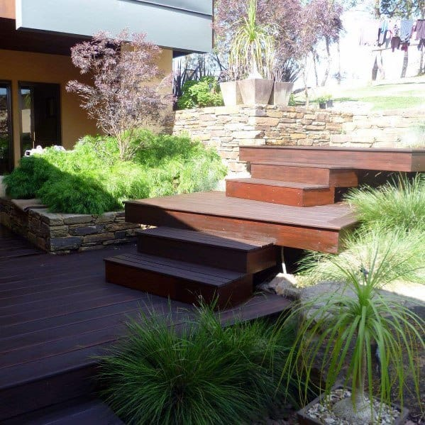 Floating Contemporary Deck Steps Design Inspiration