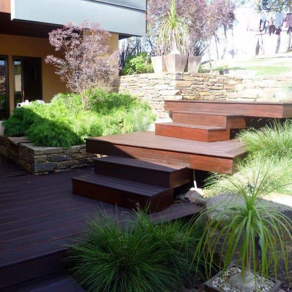 Floating Contemporary Deck Steps Design Inspiration