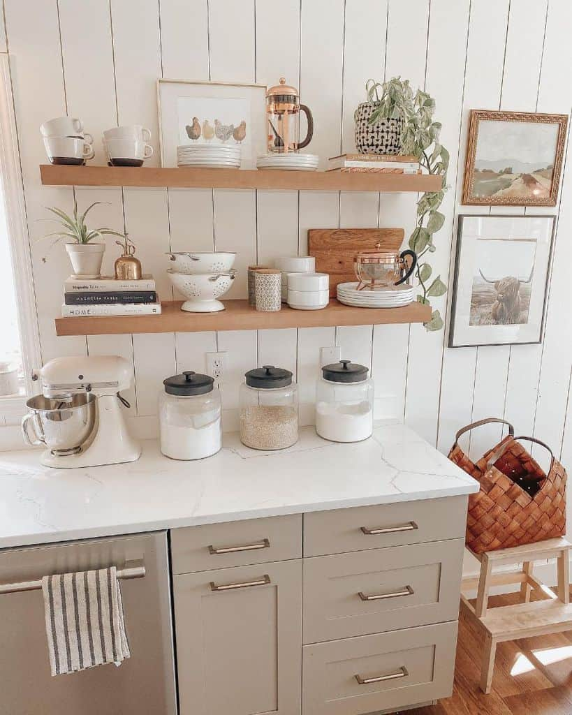 floating kitchen shelving ideas wildwillowsfarm