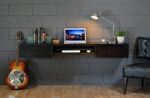Floating Wall Desk Small Home Office Ideas