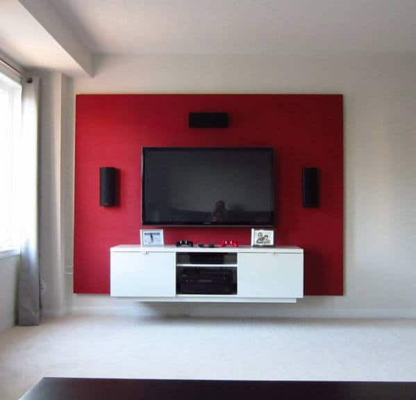 Tv Stand Designs On Wall : Diy floating wall how to build a bachelor pad tv stand