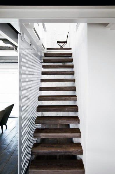 Floating Wood Modern Staircase Ideas