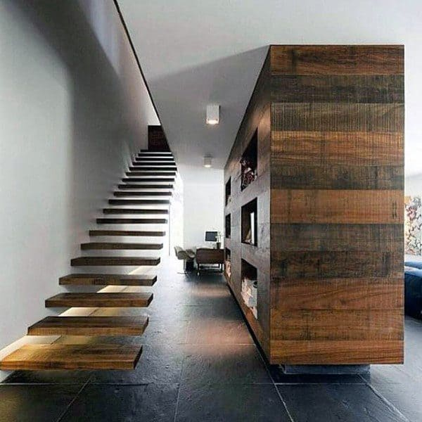 Floating Wood Staircase Ideas
