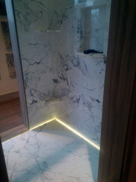 Floor Led Ideas For Shower Lighting
