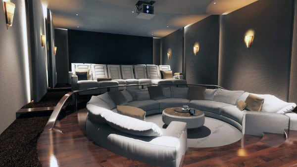 floor seating lounge home theater design - Home Lounge Design