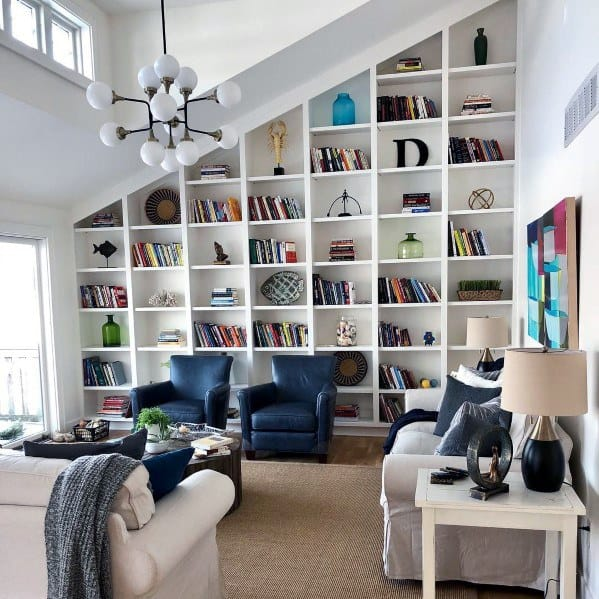 Top Best Built Bookcase Ideas Interior Bookshelf