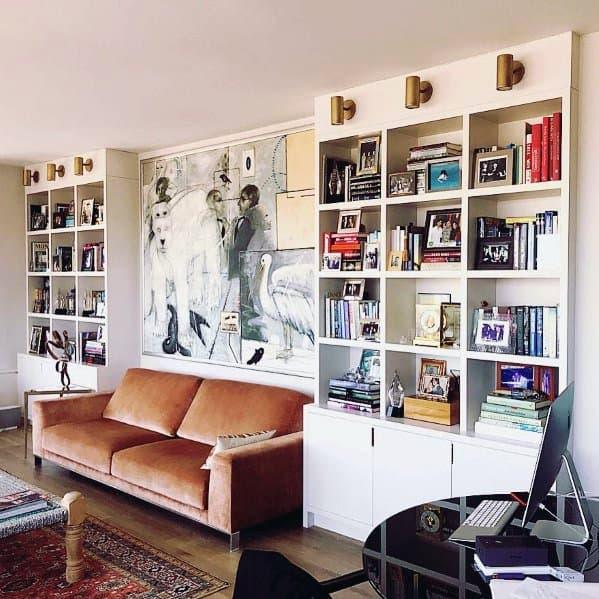 Floor To Ceiling Bookshelves Living Room Home Designs