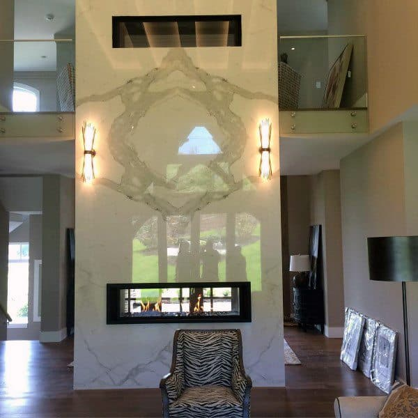 Floor To Ceiling Modern Gas Fireplace Designs
