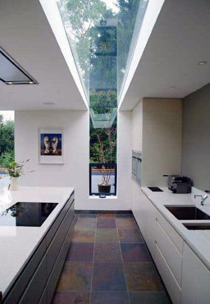 Floor To Ceiling Skylight Kitchen Design Ideas Modern