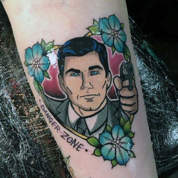Floral Archer Tattoo Ideas For Men