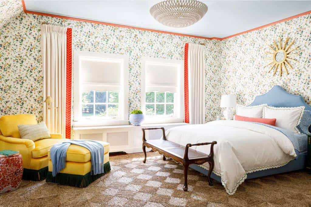 floral bedroom wallpaper ideas cynthiamcculloughinteriors