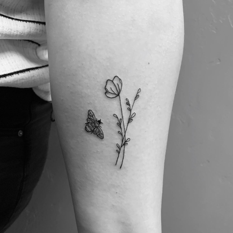 Floral Cute Tattoo Audreythalman
