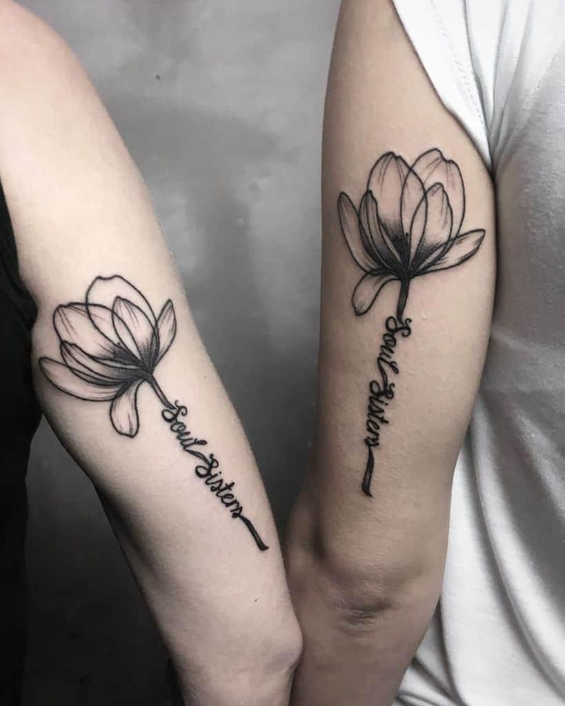 Floral Friendship Tattoo