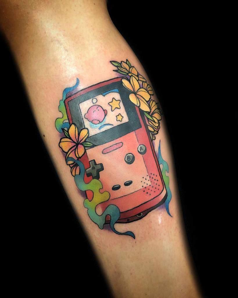 Floral Kirby Tattoos Curlsjrtattoos