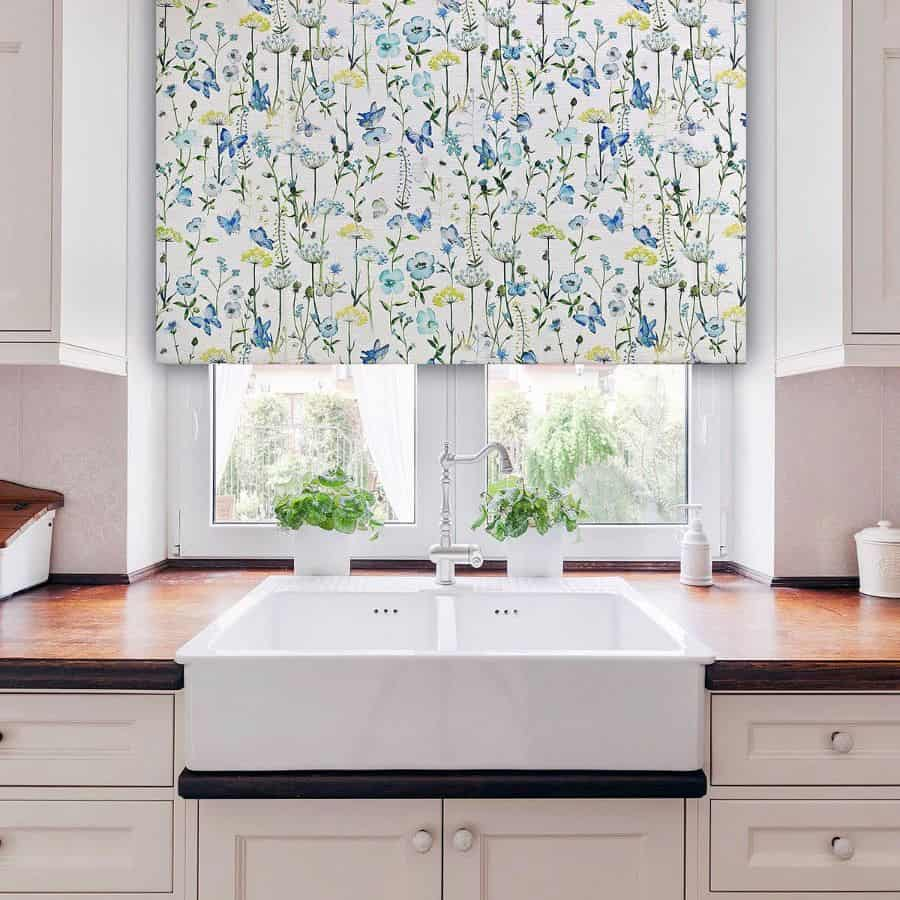 floral kitchen curtain ideas fibrenaturelle