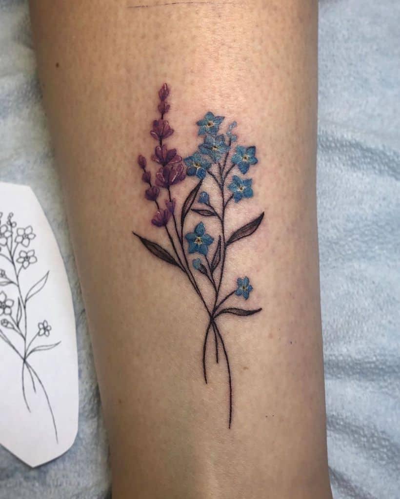 Floral Lavander Tattoo