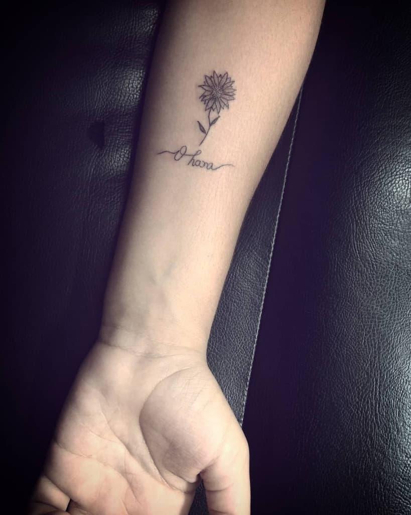 Floral Ohana Tattoo
