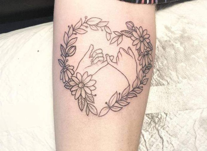 Floral Pinky Promise Tattoos Callie Rose Tattoo